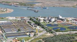 Foto aerea del depuratore di Fusina